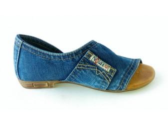 Босоножки 2052-E2 Ersax, Джинсовая обувь