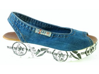 Босоножки 1040-Z13 Ersax, Джинсовая обувь
