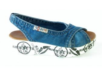 Босоножки 1058-z13 Ersax, Джинсовая обувь