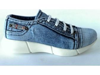 Мокасины на шнурке 701-y4-s3 Ersax, Джинсовая обувь