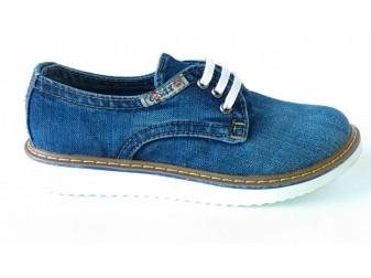 Мокасины на шнурке 550-33 Ersax, Джинсовая обувь