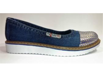 Балетки 500-56-33 Ersax, Джинсовая обувь