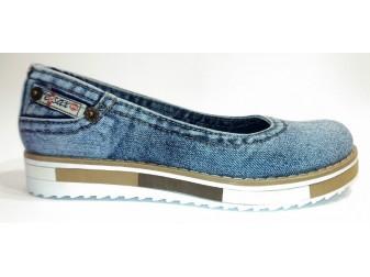 Балетки 519-Y4-Y8 Ersax, Джинсовая обувь