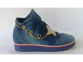 Ботинки 36-110 SS(sherlock soon), Джинсовая обувь