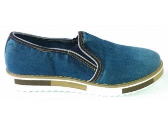 Мокасины 521-Y8 Ersax, Джинсовая обувь