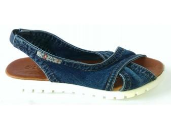 Босоножки Ersax, Джинсовая обувь