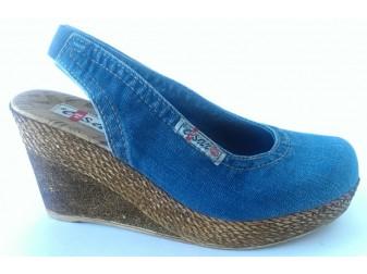 Босоножки 1043-E1 Ersax, Джинсовая обувь