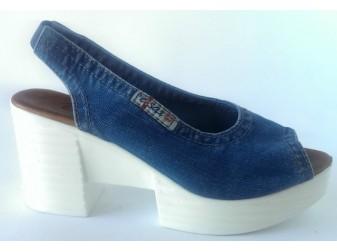 Босоножки 1040-Z6 Ersax, Джинсовая обувь