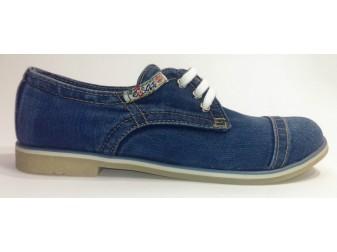 Мокасины на шнурке 551-39 Ersax, Джинсовая обувь