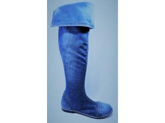 Сапоги 375-39s Ersax, Джинсовая обувь