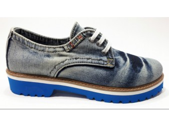 Мокасины на шнурке 550-y3-14m Ersax, Джинсовая обувь