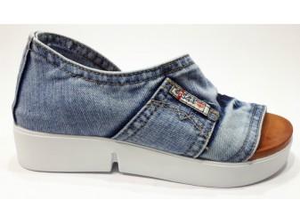 Босоножки 2052-y4-p11 Ersax, Джинсовая обувь