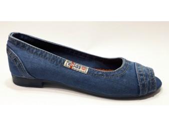 Балетки 2017-tpu Ersax, Джинсовая обувь