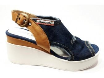 Босоножки  Emani jeans, Джинсовая обувь