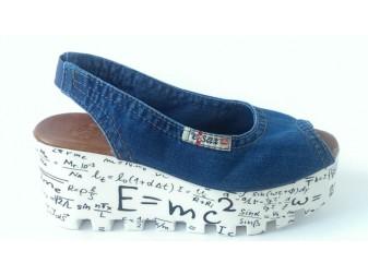 Босоножки 1040-Z14 Ersax, Джинсовая обувь