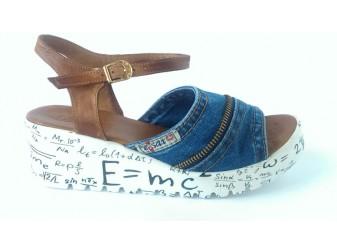 Босоножки 1104-k37-a1-z11 Ersax, Джинсовая обувь