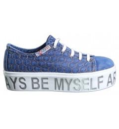 Слипоны, , 1345 грн., 552N126W, Ersax, Джинсовая обувь