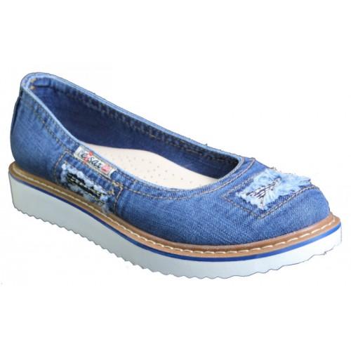 c8c1cbd32 Балетки 500-N16-33 Ersax, Джинсовая обувь