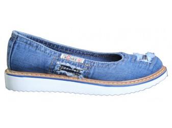 Балетки 500-N16-33 Ersax, Джинсовая обувь