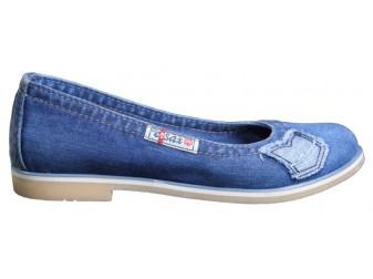 Балетки 500-N14-39 Ersax, Джинсовая обувь