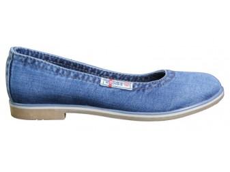 Балетки 500-39 Ersax, Джинсовая обувь