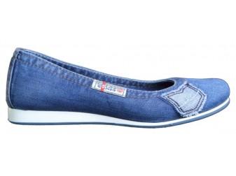 Балетки 500-N14-16 Ersax, Джинсовая обувь