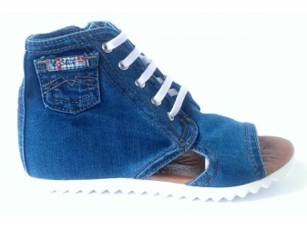 Босоножки 2055-S2 Ersax, Джинсовая обувь