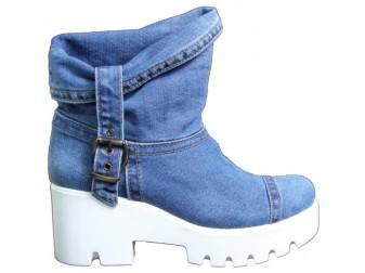 Ботинки 342-В Ersax, Джинсовая обувь