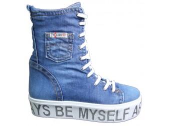 Ботинки 301-W Ersax, Джинсовая обувь