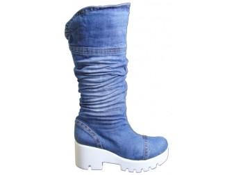 Сапоги 340-К01-В Ersax, Джинсовая обувь
