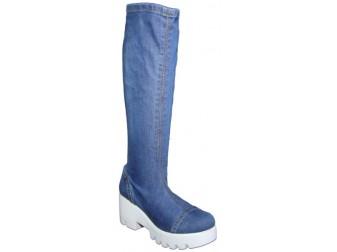 Сапоги 315-B Ersax, Джинсовая обувь