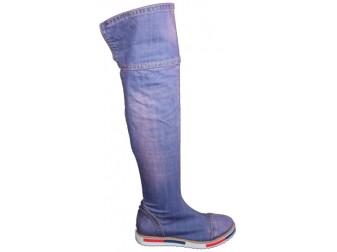 Сапоги 375K1-Y2-Y8 Ersax, Джинсовая обувь