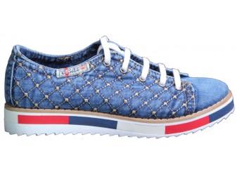 Мокасины на шнурке 552-N105-Y8 Ersax, Джинсовая обувь
