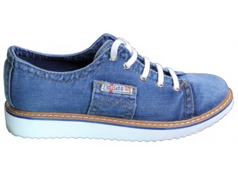 Мокасины на шнурке 552-33 Ersax, Джинсовая обувь
