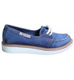 Мокасины на шнурке 703-33, , 1345 грн., 703-33, Ersax, Джинсовая обувь