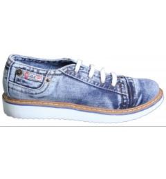 Мокасины на шнурке 701-Y4-33, , 1345 грн., 701-Y4-33, Ersax, Джинсовая обувь