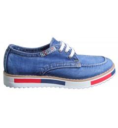 Мокасины на шнурке 704-Y8, , 1345 грн., 704-Y8, Ersax, Джинсовая обувь