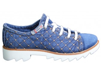 Мокасины на шнурке 552-N105-05 Ersax, Джинсовая обувь