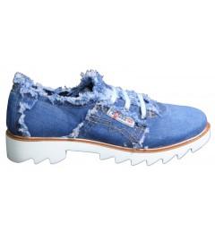 Мокасины на шнурке 700-P1-05, , 1232 грн., 700-P1-05, Ersax, Джинсовая обувь