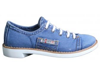 Мокасины на шнурке 552-B1 Ersax, Джинсовая обувь