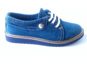 Мокасины на шнурке 518-T4 Ersax, Джинсовая обувь
