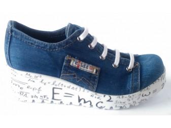 Мокасины на шнурке 552-Z11 Ersax, Джинсовая обувь