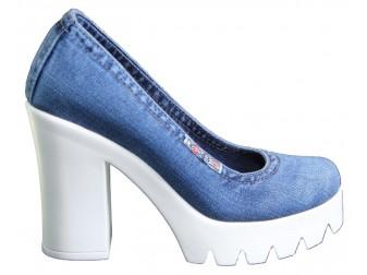 Туфли 500-D1 Ersax, Джинсовая обувь