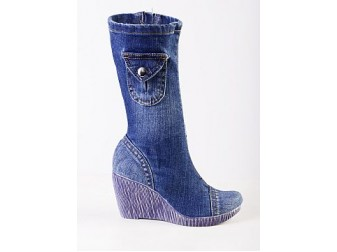 Сапоги Emani jeans, Джинсовая обувь