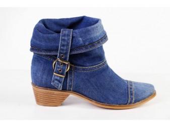 Ботинок 342-j1 E-sax, Джинсовая обувь